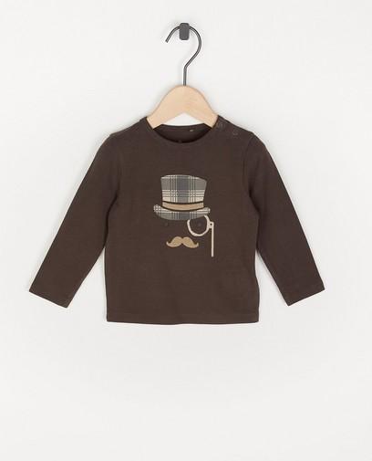 T-shirt à manches longues en coton bio à imprimé