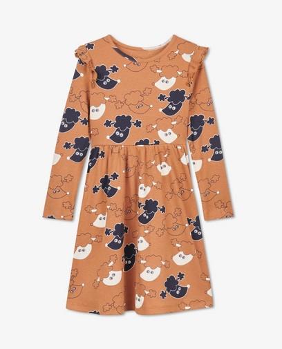 Bruine jurk met poedelprint BESTies