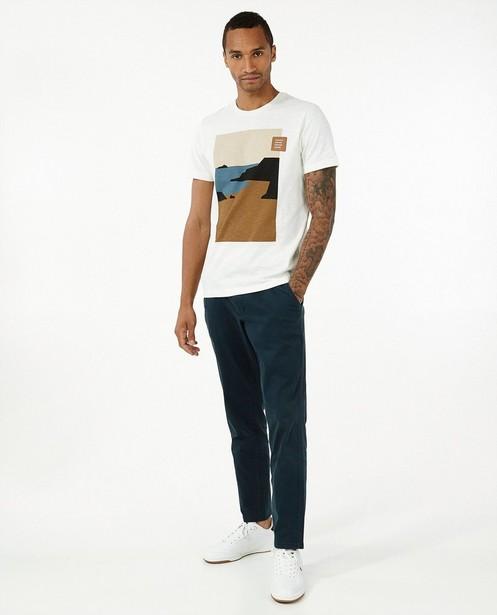 Wit T-shirt met print s.Oliver - stretch - S. Oliver