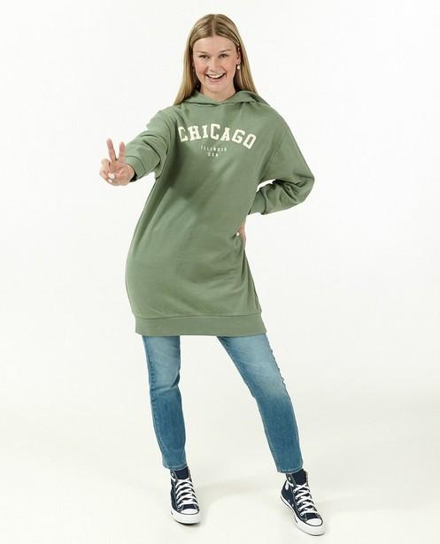 Robe verte à capuchon - longue - Groggy