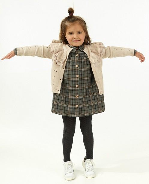 Cardigan en tricot avec des volants - motif ajouré - Milla Star