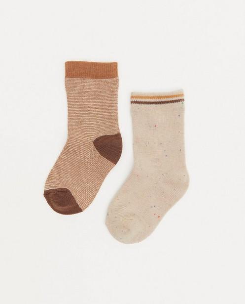 Lot de chaussettes beiges pour bébés - 2 paires - Cuddles and Smiles