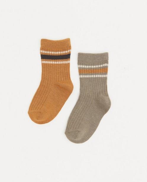 Lot de 2 paires de chaussettes pour bébés - côtelées et rayées - Cuddles and Smiles