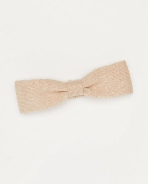 Beige haarband met knoop - van fijne brei - Milla Star