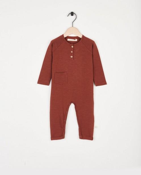 Bruine jumpsuit Your Wishes - met ribboorden - Your Wishes