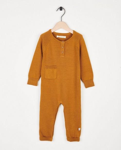 Grenouillère brune en fin tricot Your Wishes - avec des petites poches - Your Wishes