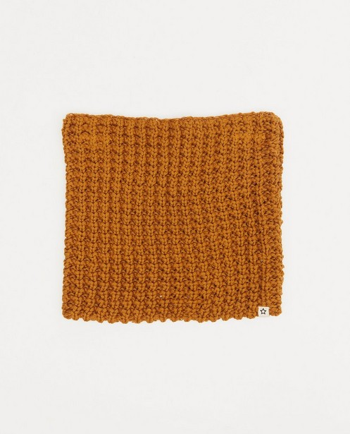 Bruine nekwarmer Your Wishes - met stretch - Your Wishes