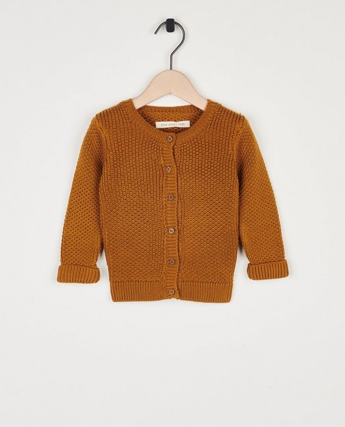 Camel cardigan Your Wishes - 100% katoen - Your Wishes