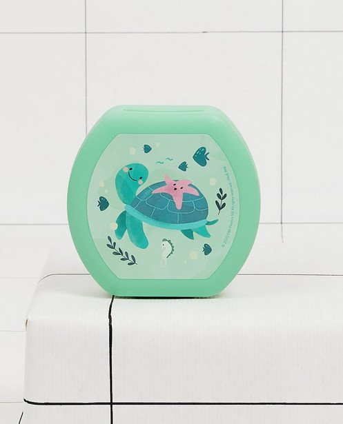 Groene snackbox Amuse Your Day - met schildpadprint - JBC