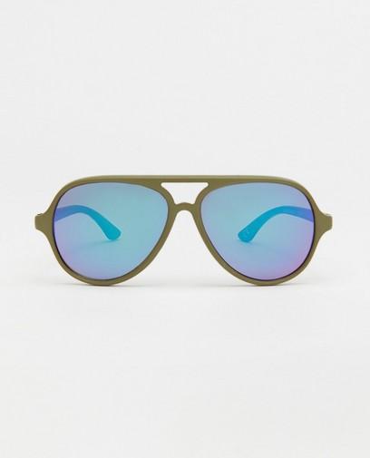 Groene pilotenzonnebril