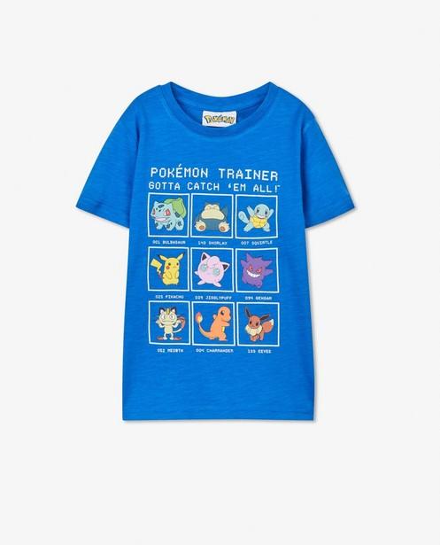 Blauw T-shirt met Pokémon-print - stretch - Pokemon