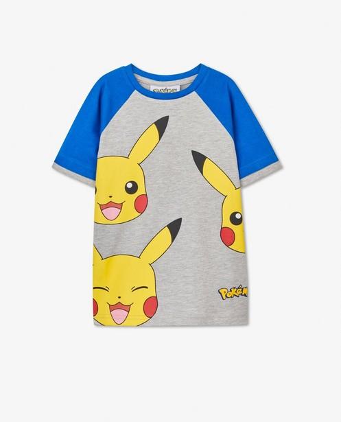 Grijs-blauw Pokémon T-shirt met print - Pikachu - Pokemon