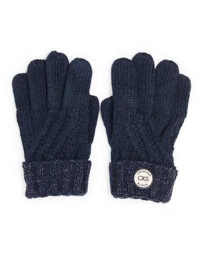 Blauwe handschoenen met metaaldraad CKS
