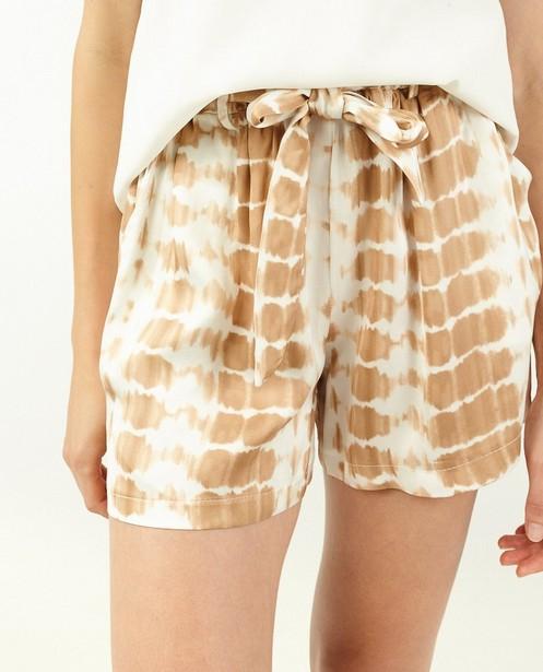 Shorts - Short blanc à imprimé tie dye