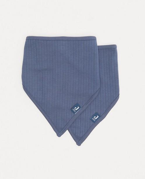 2 pack blauwe bandana bib Jollein - met rib - Jollein