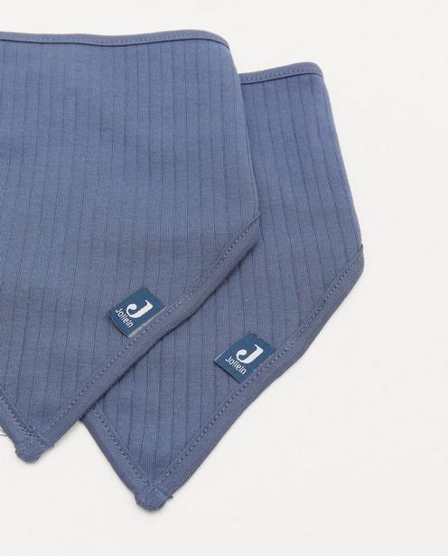 Babyspulletjes - 2 pack blauwe bandana bib Jollein