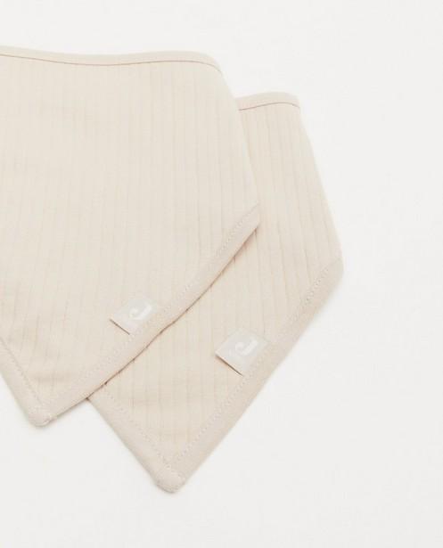 Babyspulletjes - 2 pack beige bandana bib Jollein