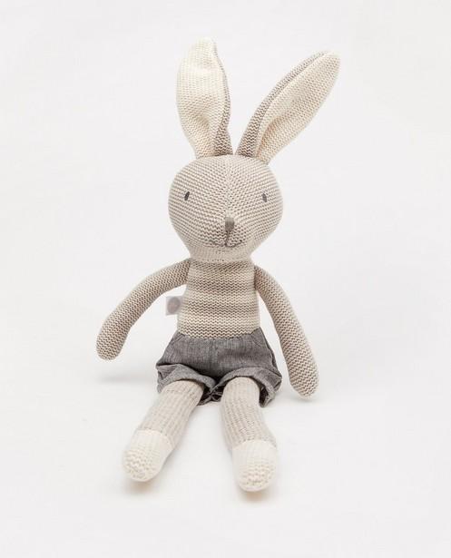 Grijs knuffel konijn Joey Jollein - ca. 50 cm - Jollein