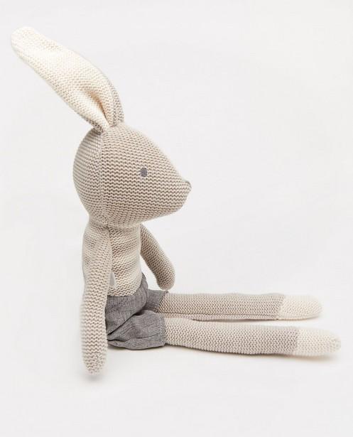 Babyspulletjes - Grijs knuffel konijn Joey Jollein