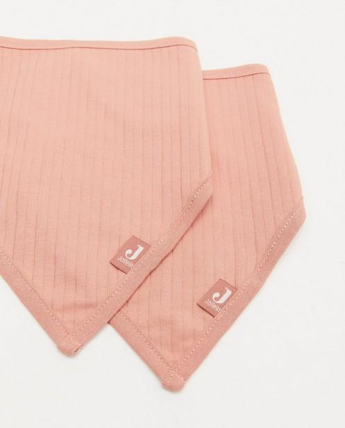 Accessoires pour bébés - Lot de 2 bandanas bib roses Jollein