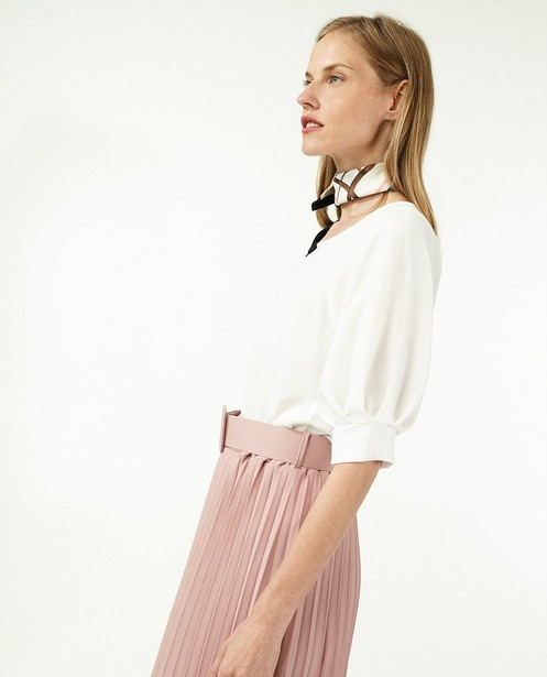 Jupe plissée rose avec une ceinture Ella Italia - et taille élastique - Ella Italia