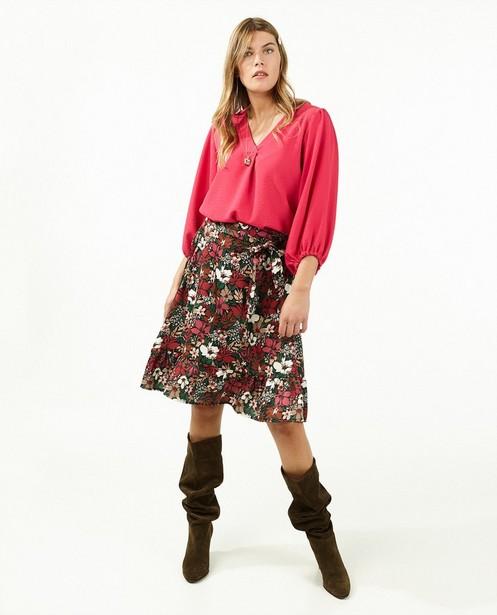 Zwarte rok met bloemenprint Ella Italia - allover - Ella Italia
