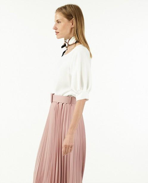 Witte blouse Ella Italia - met 3/4 mouwen - Ella Italia