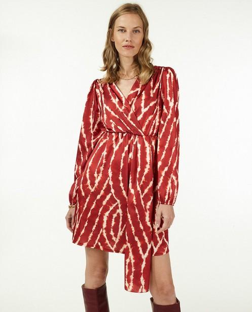 Rode jurk met print Ella Italia - stretch - Ella Italia