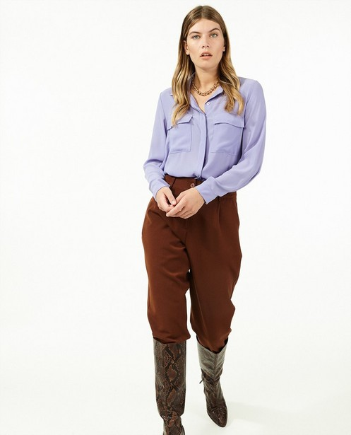 Pantalon brun Ella Italia - avec du stretch - Ella Italia