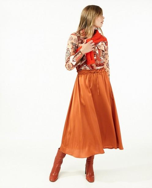 Oranje rok Ella Italia - satijn - Ella Italia