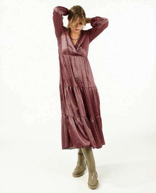 Roze jurk met print Ella Italia - allover - Ella Italia