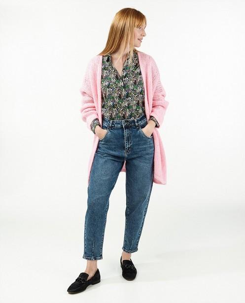 Blauwe straight jeans - stretch - Paris