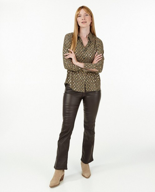 Pantalon brun - long - Paris