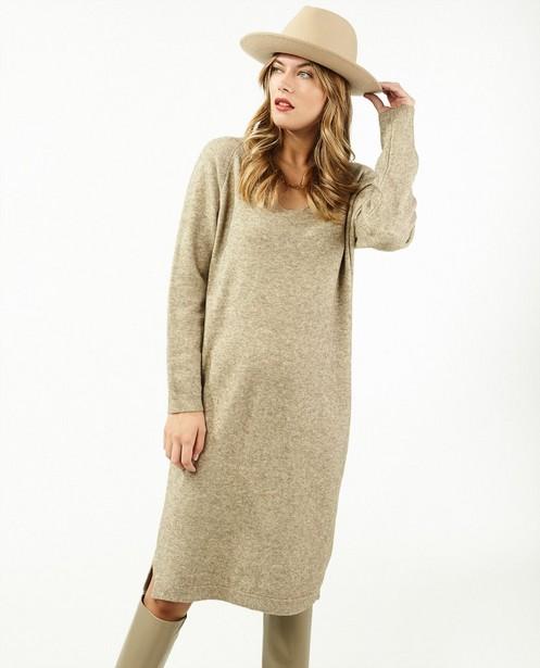 Kleedjes - Gebreide jurk in bruin