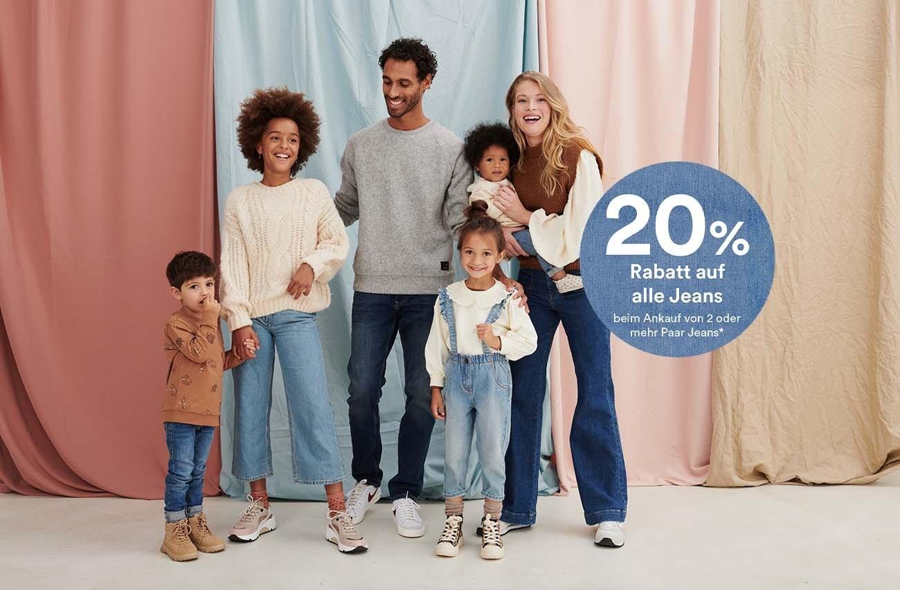 220% auf alle Jeans beim Ankauf von 2 oder mehr Paar Jeans