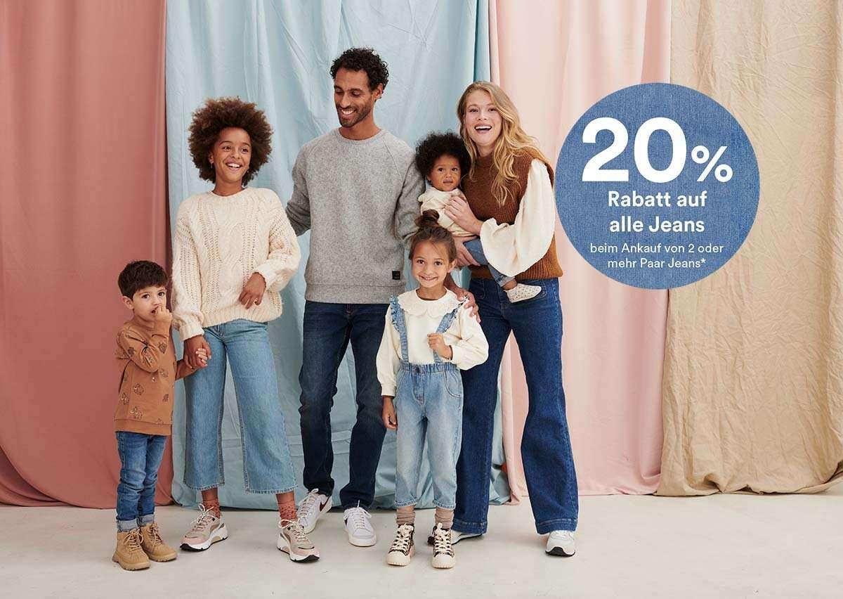 20% auf alle Jeans beim Ankauf von 2 oder mehr Paar Jeans